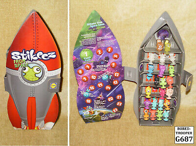 Lidl Stikeez From Space Rocket Ship Case And 22 Figures - Near Complete Set Htf • 14.99£