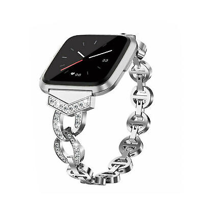 $ CDN18.83 • Buy Stainless Steel Band Replacement Luxury Bracelet Strap For Fitbit Versa Lite