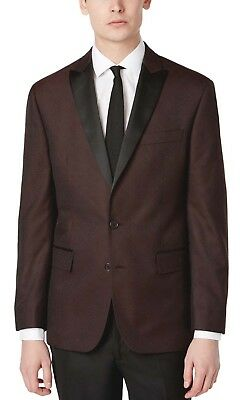 $ CDN44.30 • Buy New RYAN SEACREST Slim Tuxedo Dinner Blazer Jacquard Wine Smoking Coat Sz 40