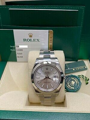$ CDN9872.69 • Buy BRAND NEW Rolex Datejust II 116300 Silver Dial Stainless Steel Box Papers