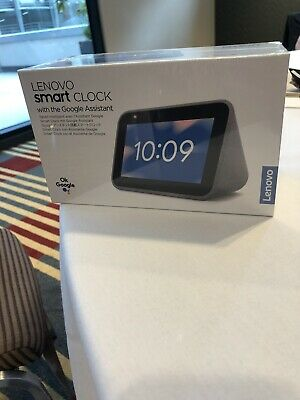 AU62 • Buy Brand New And Unopened - Lenovo Smart Clock With Google Assistant - Hemp Grey
