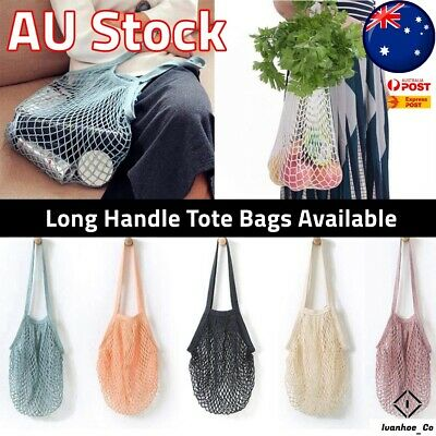 AU6.99 • Buy Net String Shopping Bags Cotton Mesh Eco Friendly Tote Grocery AUS