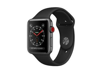 $ CDN499.99 • Buy Apple Watch Series 3 (GPS + Cellular) 38mm Space Gray Aluminum Case With Black S