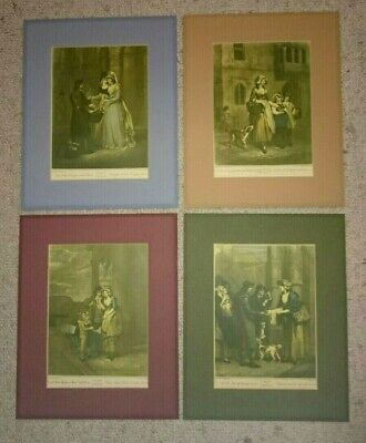 4 Vintage Cries Of London Prints By F. Wheatley R.a.  • 26.95£