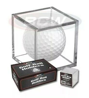 Golf Ball Display Plastic Clear Case Cube Square Stackable Holder Autograph BCW • 9.21£