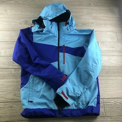 $44.99 • Buy Descente Ski Jacket Men's Size Large Blue Full Zip Hood Geometric (HU)