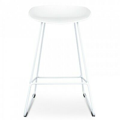 AU197 • Buy NEW Tractor Counter 65cm Bar Stool White Seat With White Metal Frame