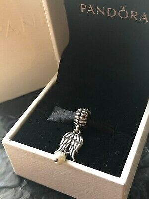 Genuine Pandora Retired Angel Wings Dangle Charm - Good Condition • 6£
