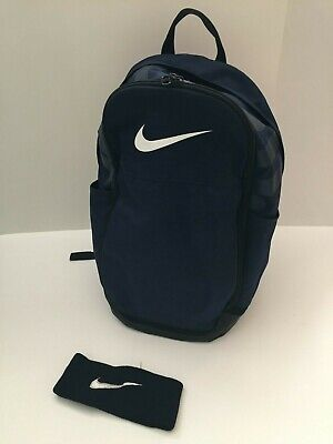 $35.99 • Buy Nike Lot Back To School Backpack Navy Black Just Do It & Vintage Sewn Headband