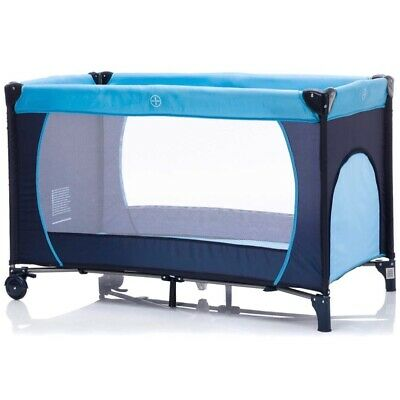 AU120 • Buy Portable Travel Cot — Easy To Assemble — 60x120cm — Blue — Accessories Included