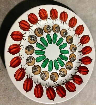 $85 • Buy Fornasetti Fruit Design 9 In. Plate. #3...3 Tier Repeat Pattern MCM