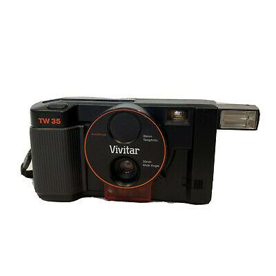$ CDN76 • Buy Vintage VIVITAR TW35 Camera 35mm Wide Angle 80mm Telephoto Autofocus - Tested