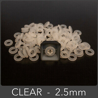 110pcs Clear 2.5mm O-Ring Keycap Damper For Cherry MX Mechanical Keyboard Switch • 6.29£