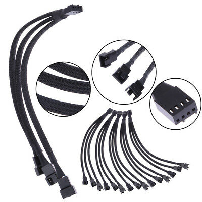$9.95 • Buy Fan 4pin To 3 X 4pin/3pin PWM Extender Cable 4pin To 3 Ways Y Splitter Cable
