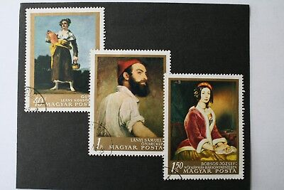 Three Large Hungarian Stamps (1970s) • 1.99£