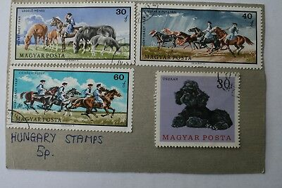 Four Large Hungarian Stamps (1970s) • 1.99£