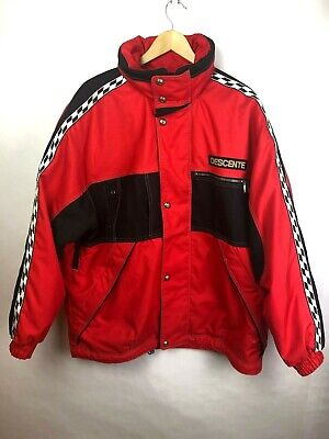 $110 • Buy Vintage Descente Ski Jacket Red Snowboarding Snowmobiling Mens XL