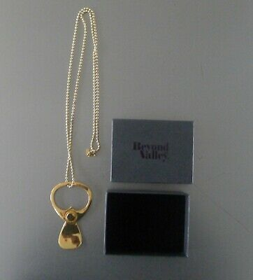 Miss Bibi French Designer Gold Plated Brass Pull Tag Opener Ball Chain NEW • 75£