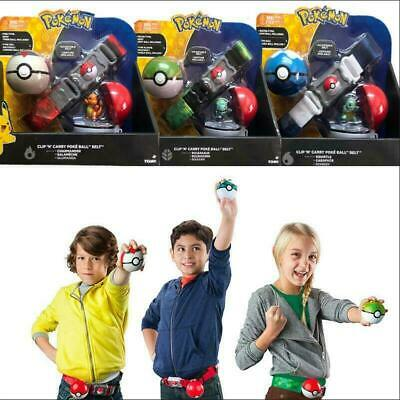Poke Ball Belt Toys Pokemon Clip N GO Carry Original Pikachu Cross Game Kid Gift • 12.29£