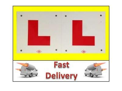 2 L Plates Motorcycle Scooter Car Lorry Van 2 X New Hard Shater Proof Plastic • 4.49£
