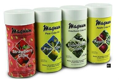 MAGNUM Home Brew Cider Kits 30 Bottles In 14 Days - Choice Of Flavors  FREE DEL • 22.39£