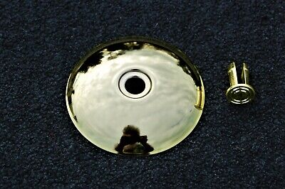 $22 • Buy  HUNTER CEILING FAN NEW PARTS - LOWER HOUSING INSET BRIGHT BRASS END CAP W/PLUG