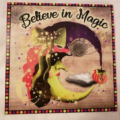$ CDN11.87 • Buy  Decorative Signs - 8  Wood Square Believe In The Magic - Halloween