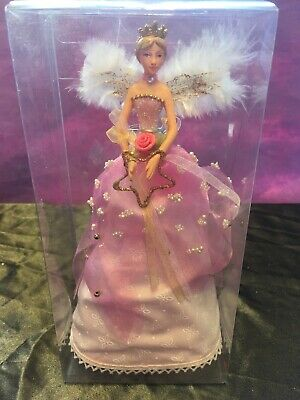 GISELA GRAHAM PINK CHRISTMAS TREE TOPPER ANGEL FAIRY -  18cm - 51 • 10.99£