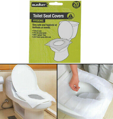 £3.75 • Buy 20pk Summit Disposable Paper Toilet Seat Cover Flushable Hygienic Health Camping