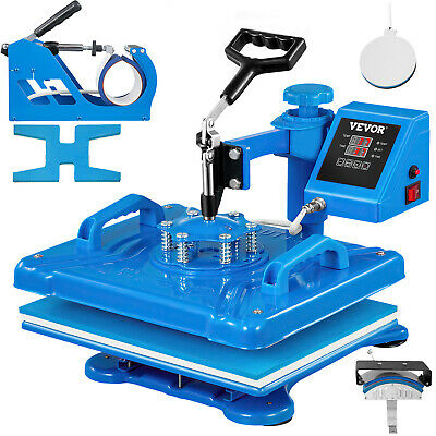 AU239.98 • Buy Heat Press 5 In 1 Heat Press 12 X 15 Inch Blue Heat Press Machine For Hat Shoes
