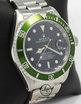 $ CDN13032.70 • Buy ROLEX Submariner 16610 Oyster Date SS Black Dial Men's Watch *MINT CONDITION*
