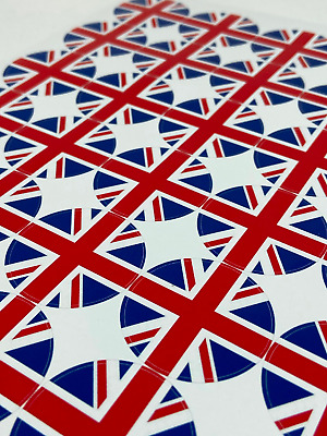 £2.79 • Buy Union Jack Stickers 35 Per Sheet Great For Loot Bags, Sweet Cane Candy Bags 37mm