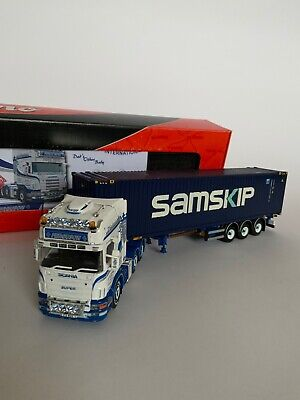 Tekno Scania  Kenny Ferguson Wit Skel Trailer And Container Load 1:50 Scale. • 100£