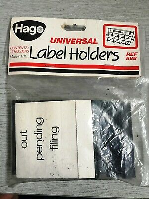 HAGO Universal Label Holders Ref: 588 X 12 • 5£