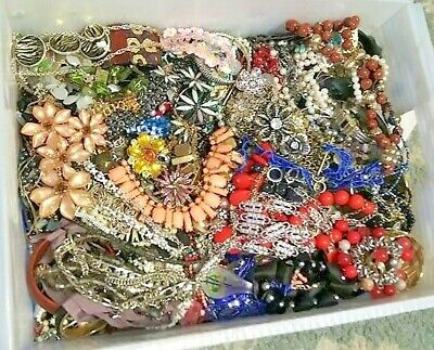 $ CDN42.46 • Buy Unsearched Jewelry Vintage Now Huge Lot Junk Craft Box 3 FULL POUNDS Piece Part