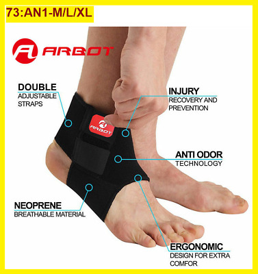 Breathable Ankle Support Strap Sleeve Sports Running Weak Joint Injury Elastic • 4.19£
