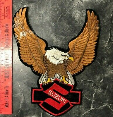 $29.95 • Buy VINTAGE EMBROIDERED PATCH Suzuki Logo With Eagle Spreading Wings Larger