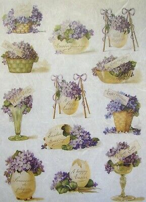 Rice Papers Decoupage Scrapbook And Craft Easter Flowers 369 • 1.79£