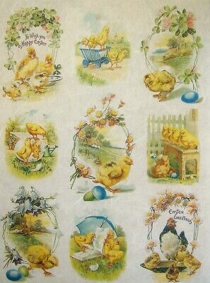 Rice Papers Decoupage Scrapbook And Craft Easter Eggs And Chicken 378 • 1.79£