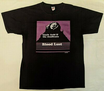 $50 • Buy UNCLE ACID & The DEADBEATS 2011 Blood Lust Shirt L - Early Press Ghost Rare