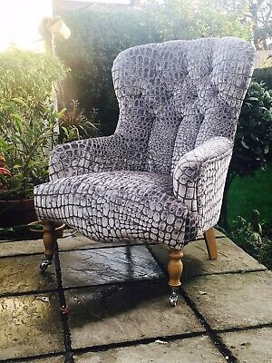 Outstanding Hand Made Bampton Chair In Designers Guild Nabucco Pearl - Free P&P • 1,100£