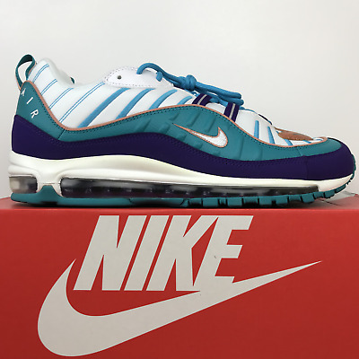 $169.99 • Buy Nike Air Max 98 Charlotte Hornets Court Purple Teal 640744-500 Men's Size 12
