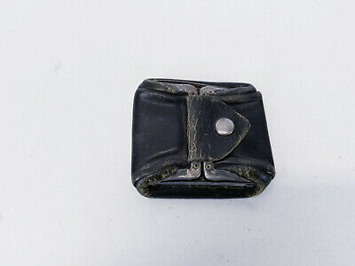 $15 • Buy Vintage Leather & Metal Folding Collapsible Coin Purse Ashtray