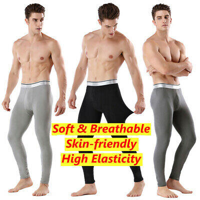 Men Winter Thick Fleece Lined Long Johns Warm Leggings Base Layer Bottoms • 6.94£