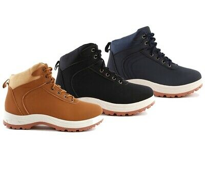 Mens Gents Walking Hiking Outdoor Wide Fit Hi Top Trainers Boots Shoes New Size • 14.99£