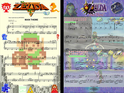 $15.99 • Buy The Legend Of Zelda Majora's Mask Music Art (2) Lot 11 X 17 Quality Posters
