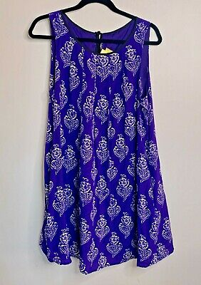 $ CDN30 • Buy Maeve Anthropologie Womens Small Sleeveless Shift Dress Purple Floral Above Knee