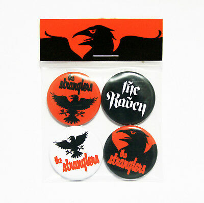The Stranglers The Raven Badge Pack - 4 Pin Button Badges (Punk) • 3.50£