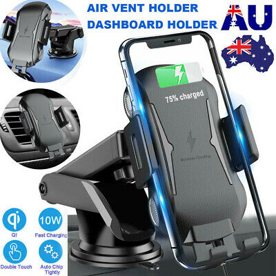 AU23.99 • Buy Automatic Clamping 10W Qi Wireless Car Charger Fast Charging Mount Phone Holder