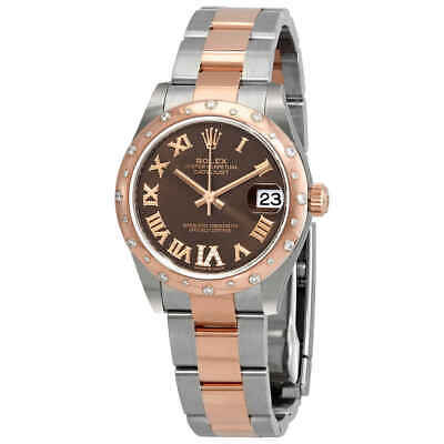 $ CDN20410.93 • Buy Rolex Datejust 31 Chocolate Dial Ladies Steel And 18kt Everose Gold Watch